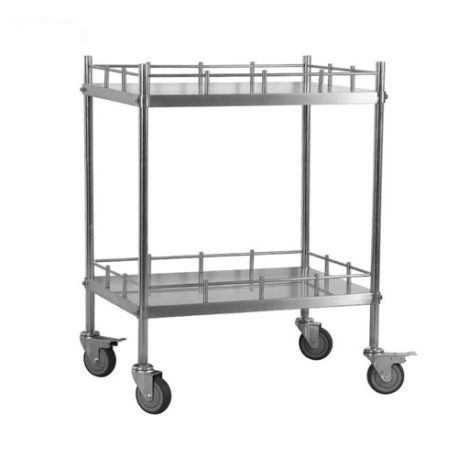 2-Shelf Medical Stainless Steel Treatment Cart