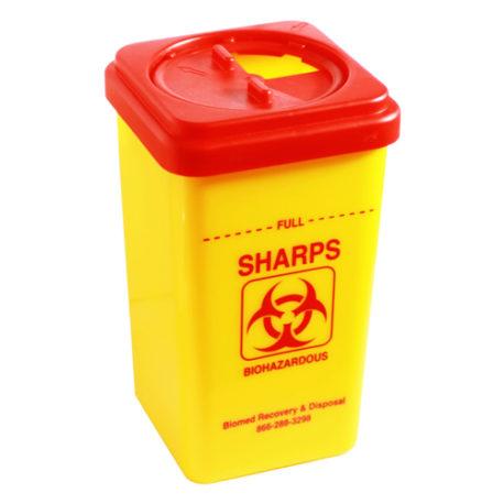 Biohazard Sharps Container 1L