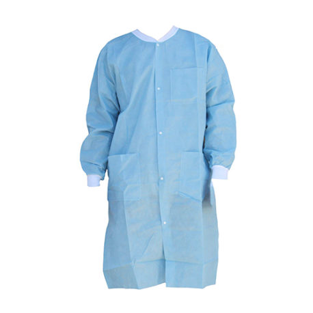 Lab Coat Gown with Button
